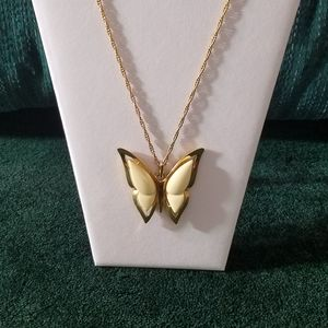 Vintage Crown Trifari Lucite Butterfly Necklace
